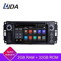 LJDA Android 8.1 Car Radio Multimedia DVD GPS For Dodge RAM 1500 Chrysler Sebring Jeep Compass Commander Grand Cherokee Wrangler