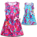 Kids The Good Luck Trolls Dresses for Girls Bobby Princess Sleeveless Dress with Bow-knot 2017 Summer Children Casual Costumes