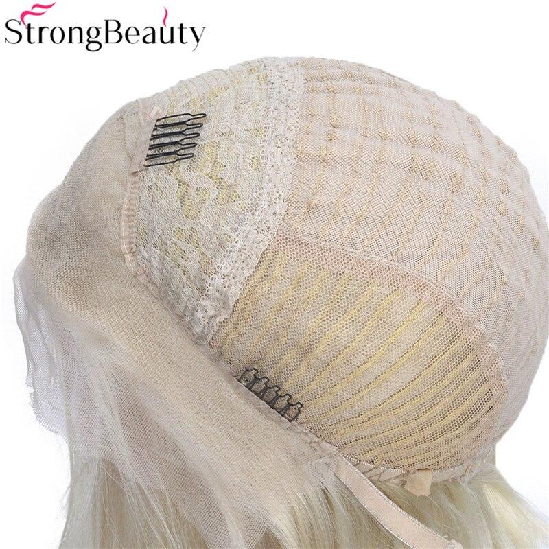 Strongbeauty Σύντομη βαμβακερή περούκα - Συνθετικά μαλλιά - Φωτογραφία 4