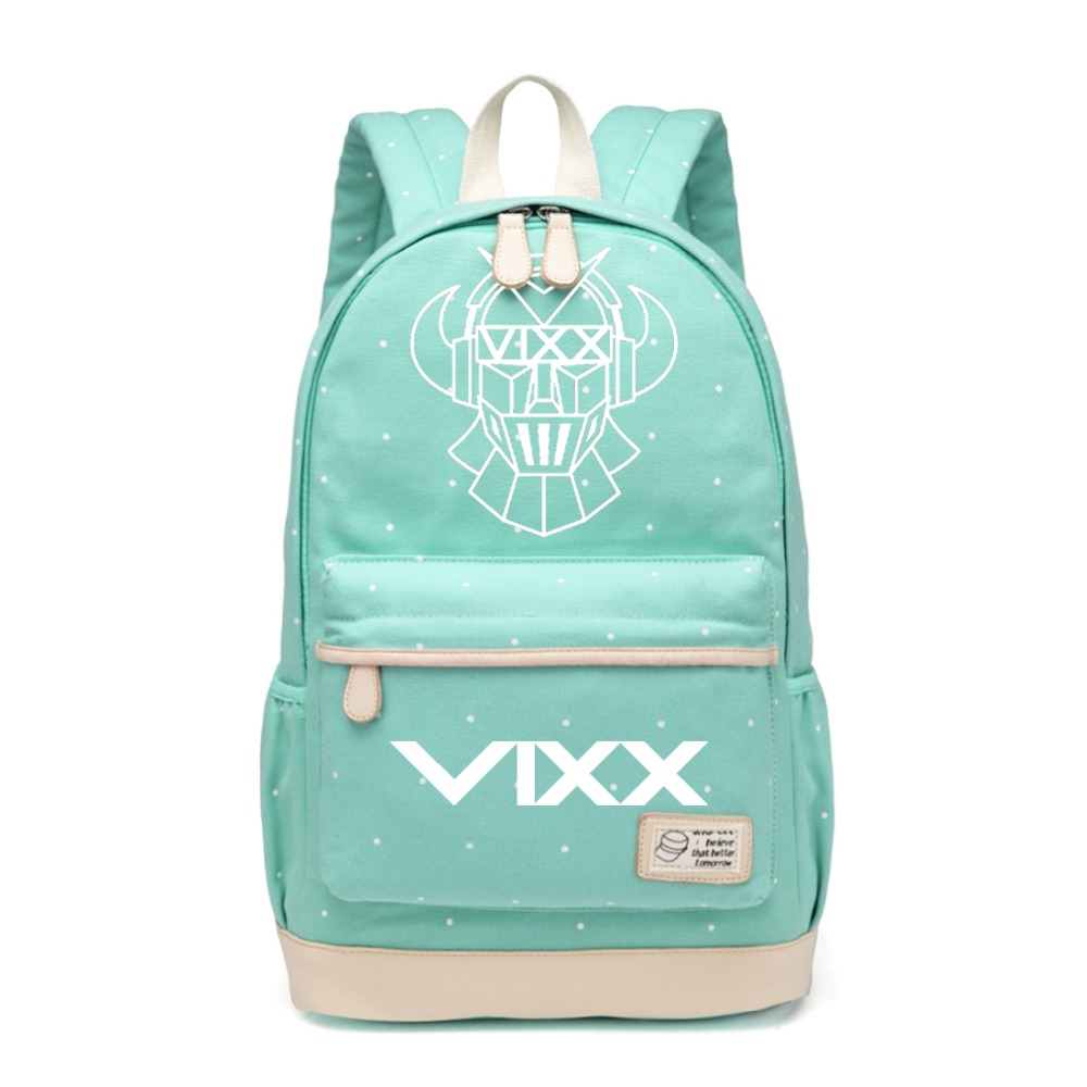 And Great Variety Of Designs And Colors Full Range Of Specifications And Sizes Trend Mark Wishot Kpop Vixx Backpack Flowers Shoulder Travel Bag For Teenagers Girls Women Canvas Dot School Bag Famous For High Quality Raw Materials