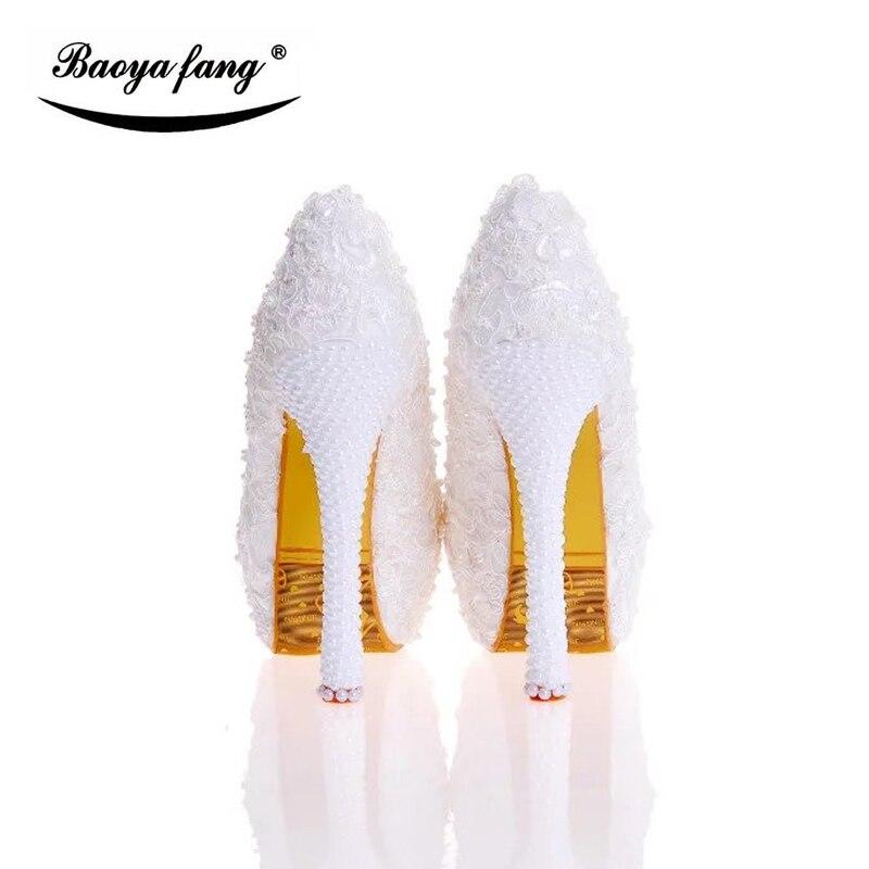 Kleid Heels Ankunft Plattform Spitze 2017 Party Frau 14cm 12cm Leder Schuhe Heel Neue High Frauen Echt Einlegesohle Heel Heel Hochzeit Weiß 10cm Z8qdS4wx