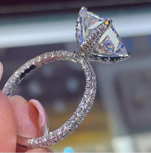 Супер флэш белый циркон кольцо невесты обручальное кольцо Классические квадратные кольца из циркона ослепительные ювелирные изделия любовные Подарки для женщин