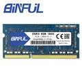 Binful Original de nueva marca DDR3L 4 GB 1600 MHz PC3-12800s 1,35 V de baja tensión CL11 SODIMM 204pin memoria Ram para el ordenador portátil del cuaderno