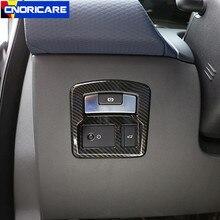 Карбоновый стиль автомобиля Хвостовая дверь рамка для переключателей декоративная крышка Накладка для Land Rover Range Rover Velar 2017-18 АБС интерьерные наклейки