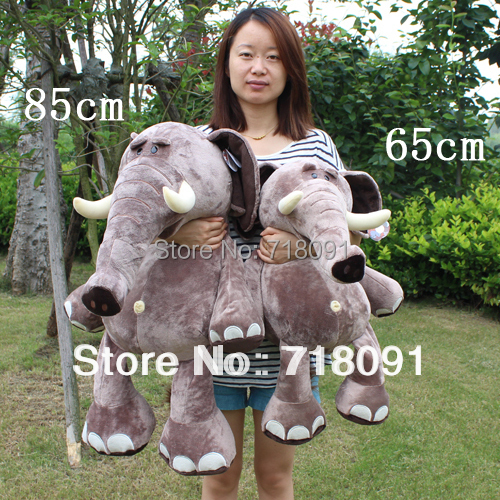 JESONN The Jungle Animals Large Stuffed Animals Plush Toys Elephant for Kids' Birthday Gifts jesonn realistic stuffed animals plush toys tiger pillows for children s birthday gifts