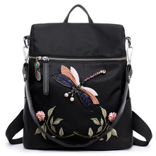 1354959e2b Factory directly sale cheap cute sling bag for teen girls. Backpack Women  Nylon School Bags For Teenage Girls Dragonfly Embroidery Practical  Functional ...