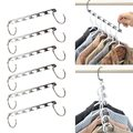 6 Pcs/Set Shirts Clothes Hanger Holders Save Space Non-slip Clothing Organizer Practical Racks Hangers for Clothes