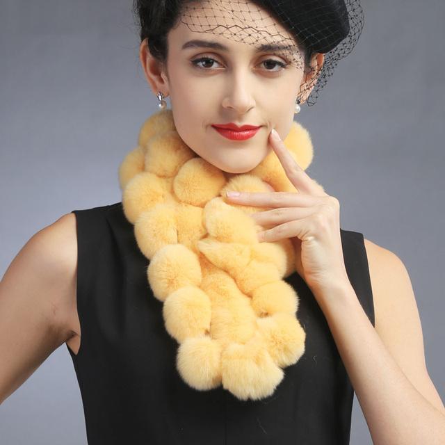 2015 mujeres del invierno señora piel de conejo Rex cuello charm warmer bufanda del cabo del abrigo del mantón de la estola poncho moda cabo encogimiento de hombros de las nuevas mujeres