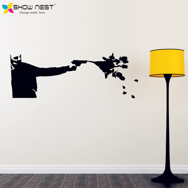 Banksy Wall Decal Vinyl Sticker   Killing With Kindness Banksy Art Sticker  Home Wall Decor
