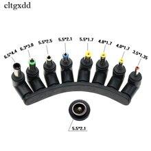Cltgxdd 8 w 1 gniazdo zasilania uniwersalny DC gniazdo 5.5x2.1mm do wtyk męski złącze zasilania konwerter do na laptopa
