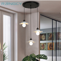 Modern Dining Room Pendant Light 3 Heads Round Rectangle Ceiling Plate Indoor Living Room Bedroom Decoration