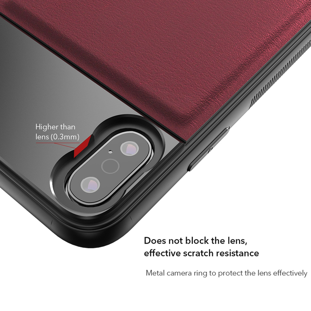 APEXEL High Quality Aluminum alloy+Leather Phone case with 17mm thread for iPhone X XS max Huawei p20 p30 pro for phone lenses 4