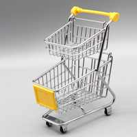 Mini Supermarket Handcart Toy Shopping Utility Cart Mode Storage Funny Folding Shopping Cart for Chi