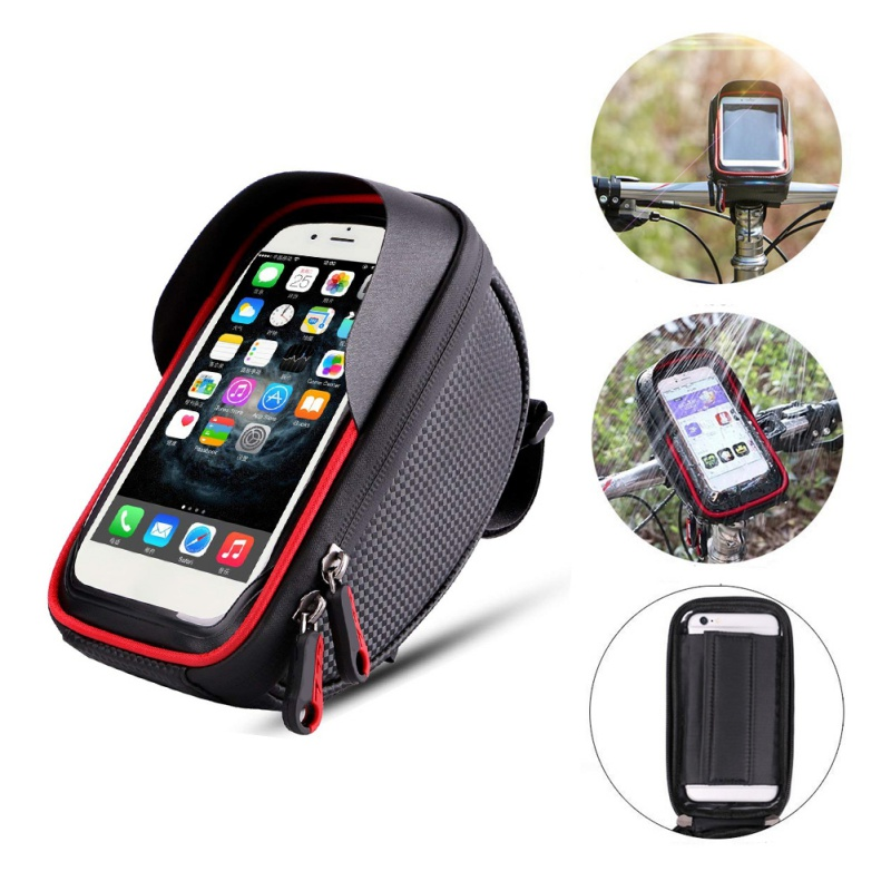 Bicycle Frame Front Tube Waterproof Bike Bag Touch Screen Bike Saddle Package For 5.8 6 in Cell Phone Bike Accessories