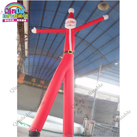 Free air blower 6m height christmas air tube man for advertising,Inflatable santa air dancer with two tube
