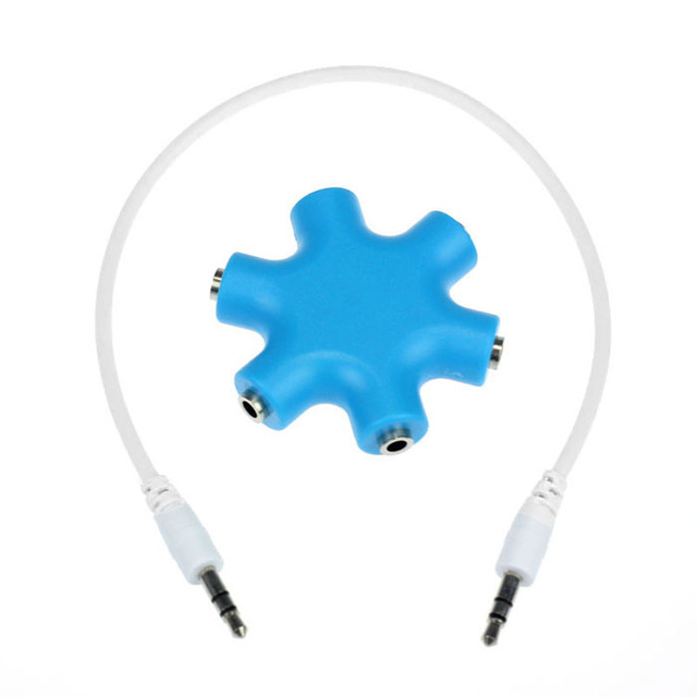Puscard Hote Sell 3.5mm Portable Headphone Earphone Audio Splitter 1 Male to 2 3 4 5 Female Cable Accessory Enjoy Music