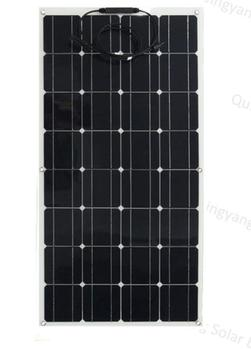 The sunny world is so amazing that the 100w semi-flexible solar panels change your life