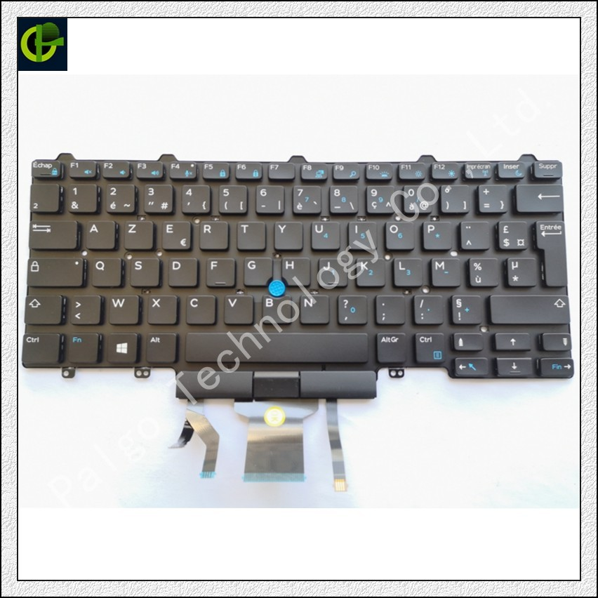 French Azerty Backlit keyboard for <font><b>Dell</b></font> <font><b>Latitude</b></font> 5480 5488 <font><b>7480</b></font> E5480 E5488 E7480 7490 5490 E7490 E5490 laptop FR image