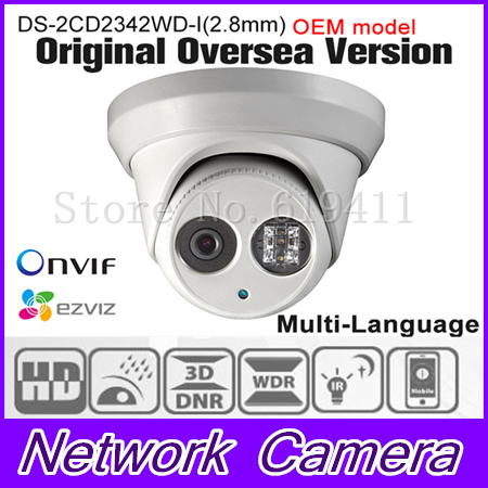 OEM DS-2CD2342WD-I(2.8mm) HIK English version 4MP IP camera Onvif P2P POE CCTV camera Network Camera security Camera HIKVISION кошельки бумажники и портмоне petek 355 041 10