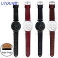 18mm Replacement leather wristband quality genuine leather watch bands for wthings activite/ steel/ Pop/HR