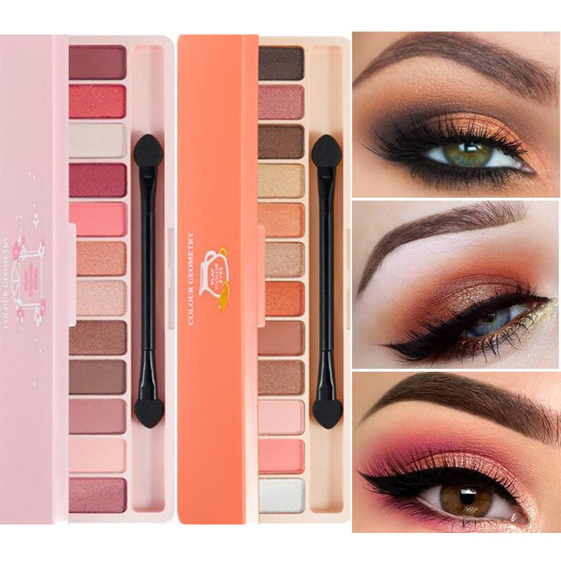 Brand Makeup Shimmer Matte Eyeshadow Palette Long