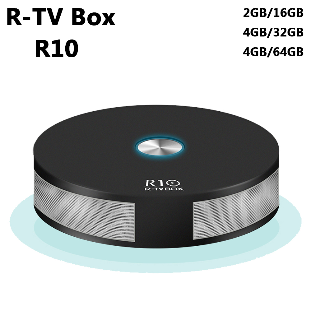R-TV R10 Android 7.1 4GB RAM 64GB ROM TV Box RK3328 Quad Core 2.4G&5G Wifi Bluetooth 4.1 MINI PC VP9 H.265 HDR10 4K Media Player beelink a9 quad core android 4 2 google tv player w 2gb ram 8gb rom bluetooth 5g wi fi black
