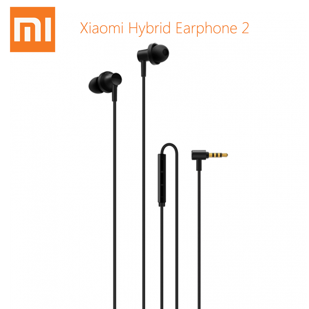 Original Xiaomi Hybrid Earphones 2 Dual Drivers Wired Control In - Ear Earbuds with Microphone Noise Cancelling original xiaomi pro hd in ear hybrid earphones
