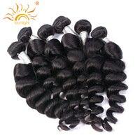 Sunlight Human Hair Brazilian Hair Loose Wave 100 Human Hair Weave Bundles Natural Black 100g Free
