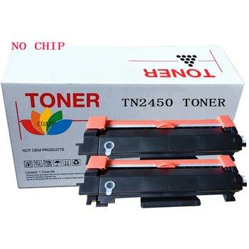 2PK TN2450 Toner cartridge for Brother HL-L2350DW L2375DW L2395DW & MFC-L2710DW L2713DW L2750DW Printer No chip