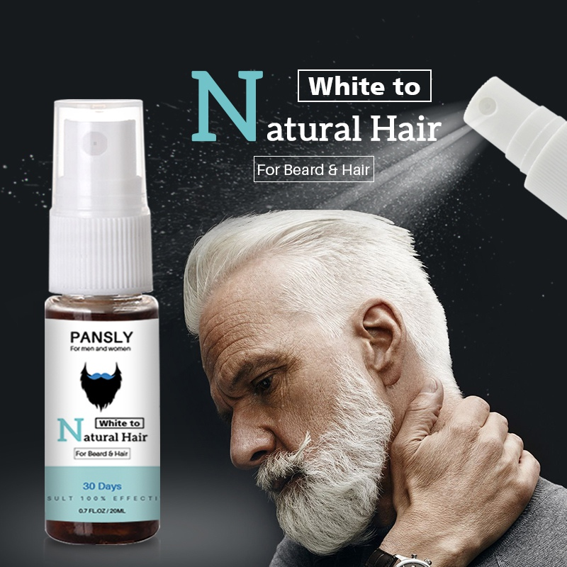 Unisex Herbal Cure White Hair Care Tonic Restore White Beard & Hair To Natural Hair Color Spray P1 image