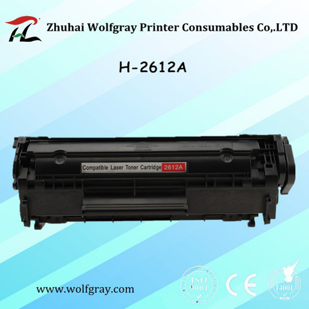 YI LE CAI Compatible toner cartridge for hp Q2612A q2612 2612a 12a 2612 laserjet 1010 1020 1015 1012 3015 3020 3030 3050 printer use for hp 4730 toner cartridge toner cartridge for hp color laserjet 4730 printer use for hp toner q6460a q6461a q6462a q6463a