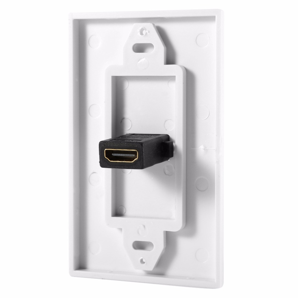 Hdmi Outlet 1080p Hdmi Wall Plate Panel Cover Coupler Outlet Extender For Home