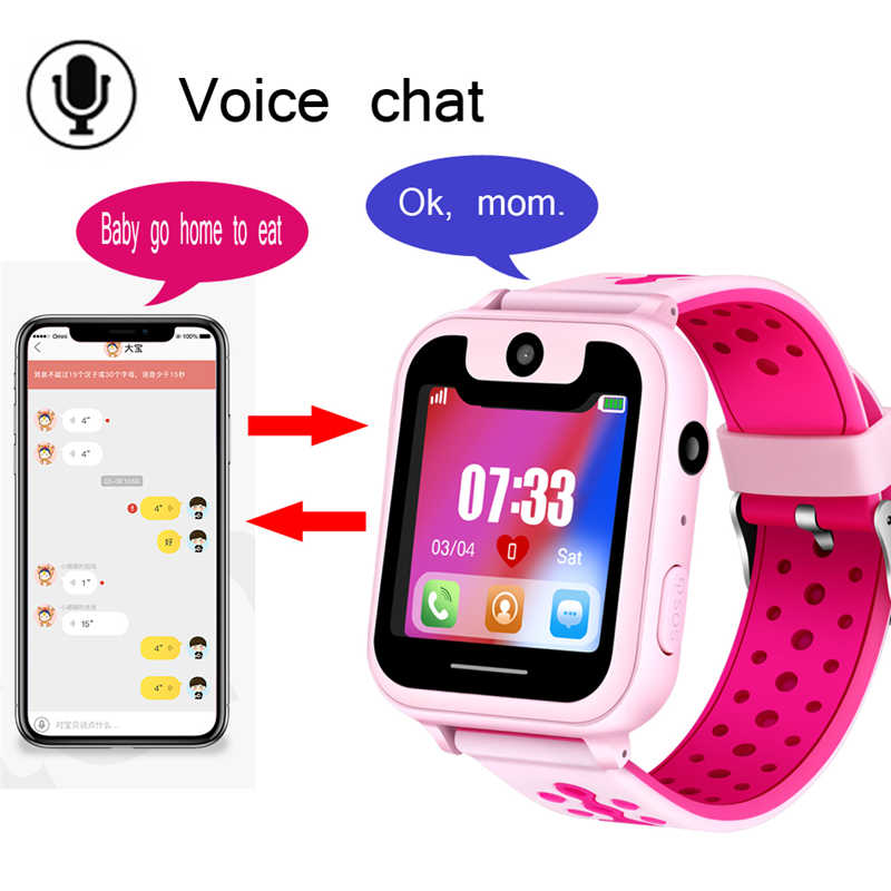 LIGE 2019 New children's smart watch GPS remote positioning SOS emergency mobile phone reminder voice chat support SIM camera
