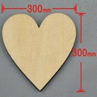 6pcs/lot Blank unfinished wooden heart crafts supplies laser cut rustic wood wedding rings ornaments 300mm 171143