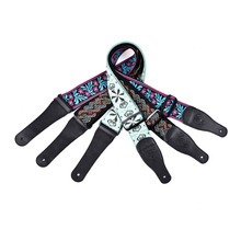 ФОТО guitar bass strap high-end double jacquard guitar strap in 6cm / 2.36in of high-end double jacquard with a plastic buckle