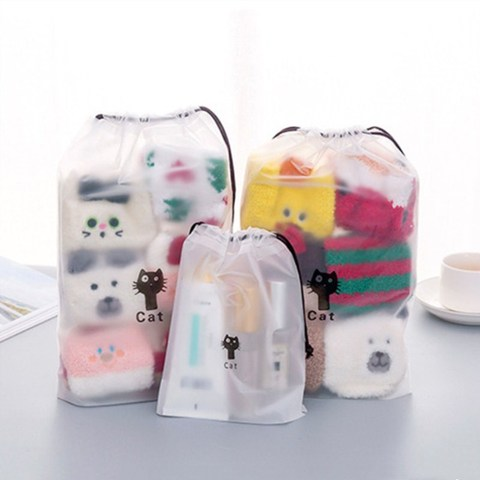 1pc Drawstring Swimming Bags Transparent Clothes Bag Sports Travel Storage Bags 3 Styles Lahore