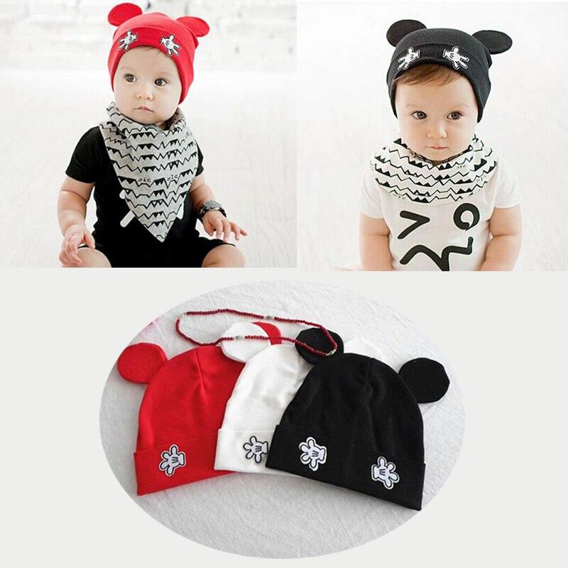 2017 newborn baby photography skullies baby beanies boy girl ears hat cute baby cap baby hats 1-24 months