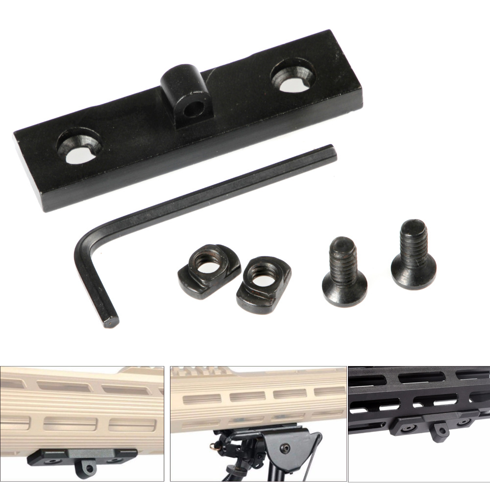Aluminum Alloy M-Lok Tripod Adapter Profile KeyMod Sling Swivel Stud / Harris Style Bipod Adapter