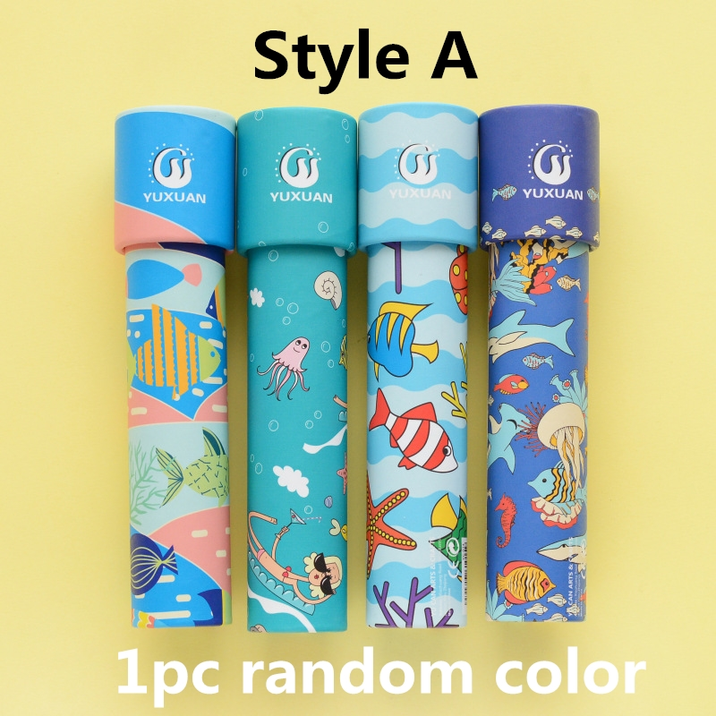 Random Color Children Kaleidoscope Toy Toddler Sensory Toys Children Educational Toys Periscope Toy Kids Childrens Day Gifts