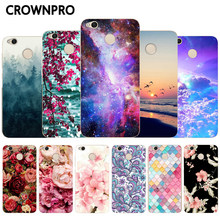 "CROWNPRO Phone Case For Xiaomi Redmi 4X Fundas Soft Silicone Cover For Xiaomi Redmi 4X TPU Back Protector 5.0"" For Redmi4x(China)"
