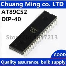 20 шт./лот AT89C52 AT89C52-24PI AT89C52-24PU MCU 8BIT 8KB FLASH DIP-40 лучшего качества