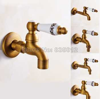 Antique Brass  Ceramic Handle Washing Machine Faucet /Garden Water Tap / and Mop Pool Faucet / Laundry Sink Cold Water Taps Wav - DISCOUNT ITEM  35% OFF All Category