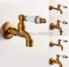 アンティーク真鍮セラミックハンドル洗濯機蛇口/ガーデン水タップ/とモッププール蛇口/ランドリーシンク冷水タップwav