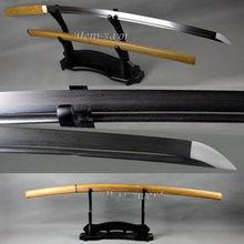 Lame tranchante en bois Rose Shirasaya Katana en acier plié