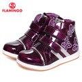 Flamingo 2016 nova coleção outono/inverno moda crianças botas sapatas dos miúdos para meninas de alta qualidade anti-slip w6ch202/w6ch203