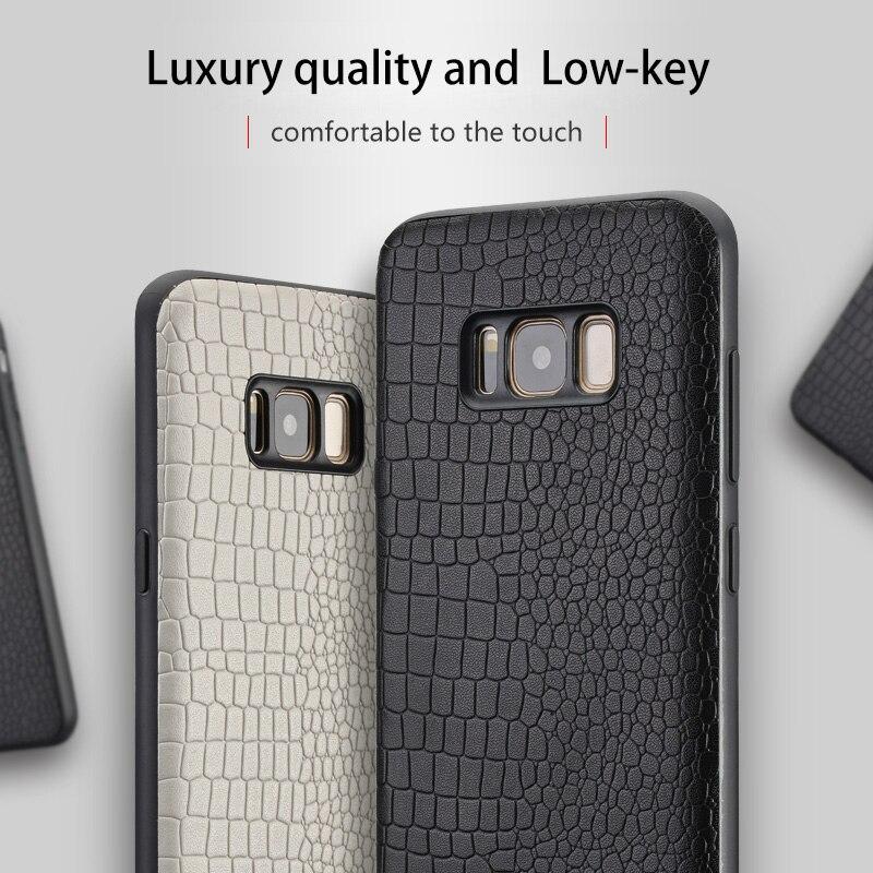 Cas de téléphone Pour Samsung Galaxy Note 8 9 S7 Bord S8 S9 Plus Crocodile Texture Couverture Arrière Pour A3 A5 a7 A8 J3 J5 J7 2017 Téléphone Cas