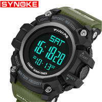 SYNOKE Sports Watch Men G Digital Military Silicone Shock Army Sport LED Waterproof Wrist Watches Men Male Watch For Gift