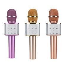 Promoción caliente V9 Teléfono Móvil Bluetooth Inalámbrico Micrófono de Karaoke Cantar KTV Micrófono de Grabación Para PC Ordenador