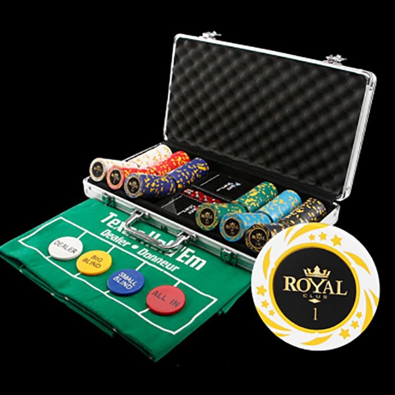 300pcsset22 kinds option poker chips casino chips - Poker Sets