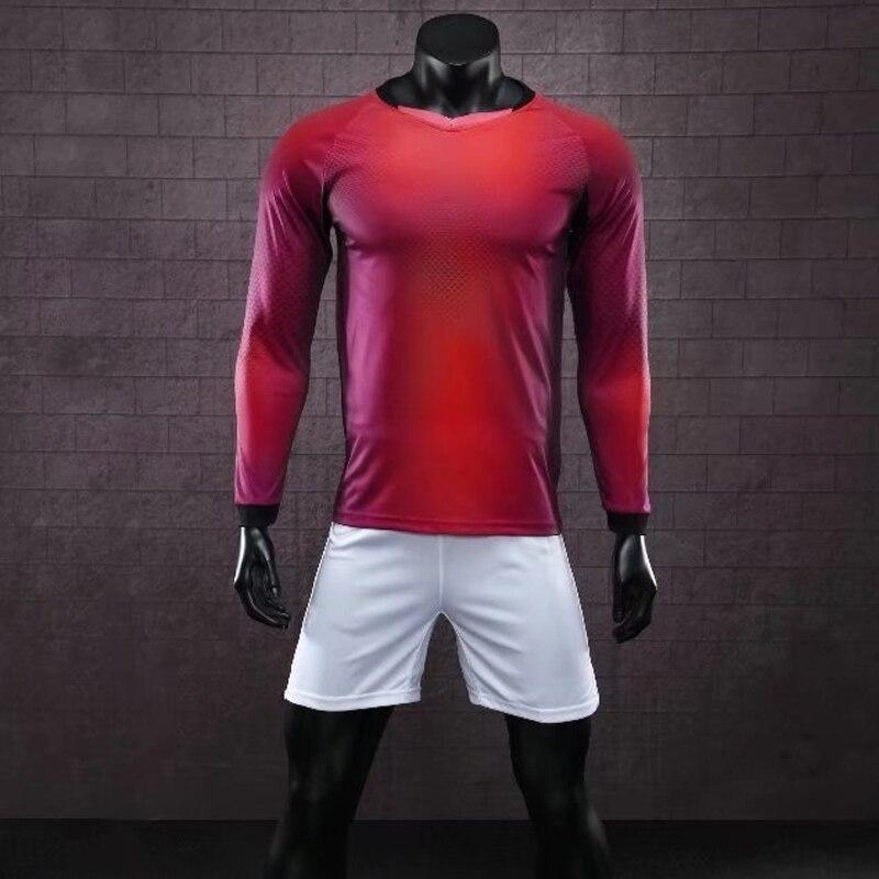 f893e4596 Detail Feedback Questions about Kids Men Football Jerseys Kit Long Sleeve  Blank Soccer Training Suit Football Jersey Custom DIY Goalkeeper Uniforms  2017 ...